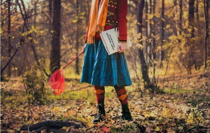 Охотник за листьями. Автор работ: Дина Беленко (Dina Belenko).