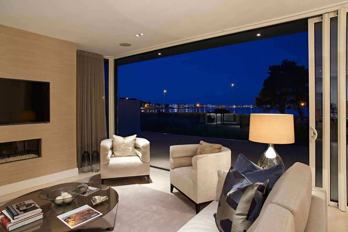 2A Shore Road, David James Architects, частный дом в Англии, частный дом на берегу залива, дом с видом на залив, дом в графстве Дорсет