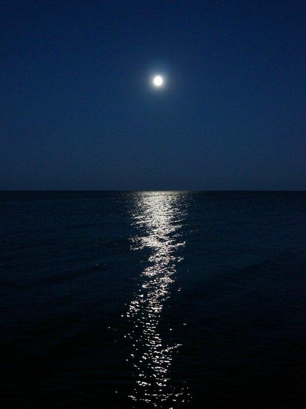 Лунная дорожка в Куршском заливе