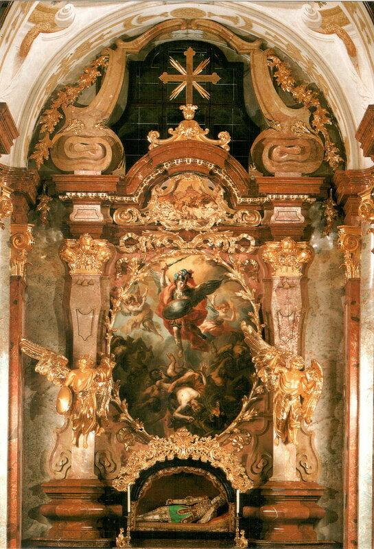 Алтарь Архангела Михаила (создан в 1723 г. мастером Иоганном Михаэлем Роттмайром)