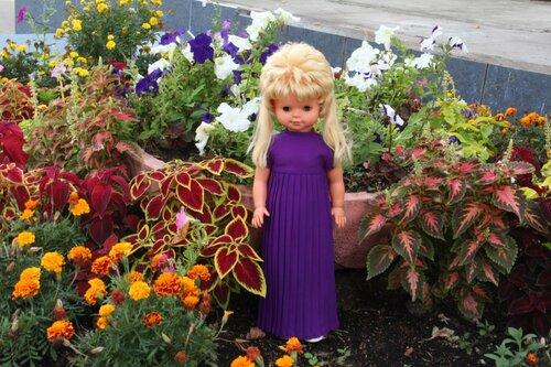 фиолетовое платье для куклы