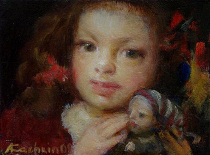 Куклы в картинах Александра Качкина