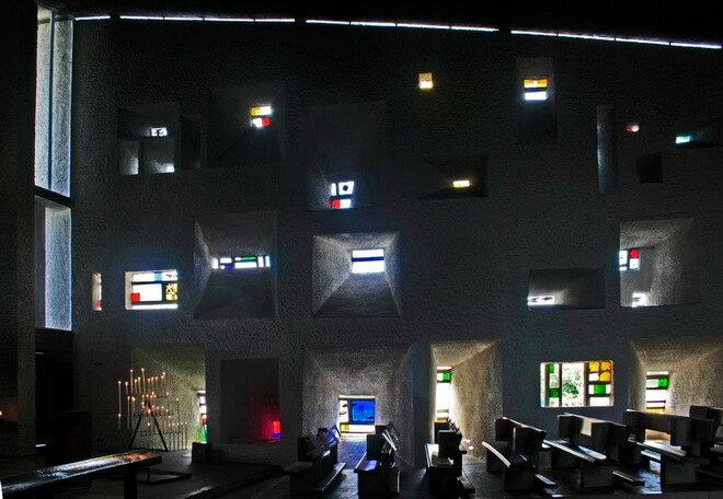 Нотр-Дам-дю-О (Notre Dame du Haut). Роншан, Франция
