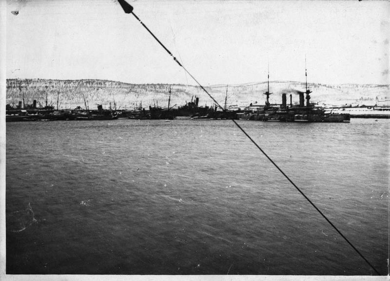 1918. Союзные корабли в гавани Мурманска