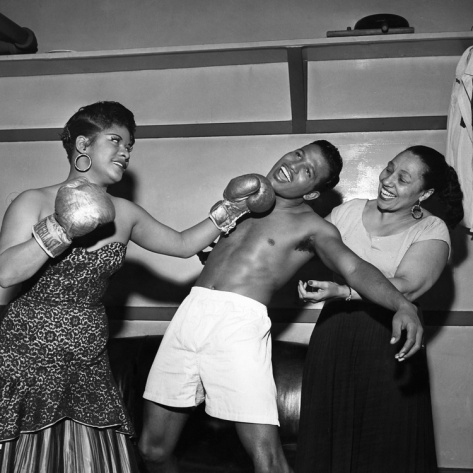 Ruth Brown, Sugar Ray Robinson, and Blanche Calloway (May 6th, 1954).jpg