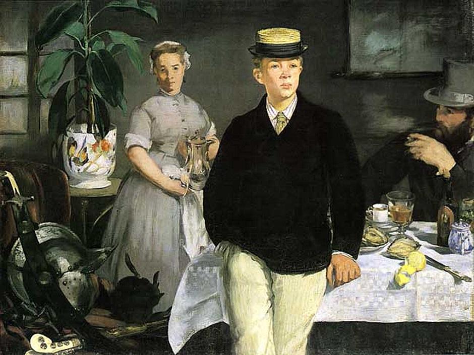 Завтрак в студии.1868. Эдуард Мане (1832-1883)