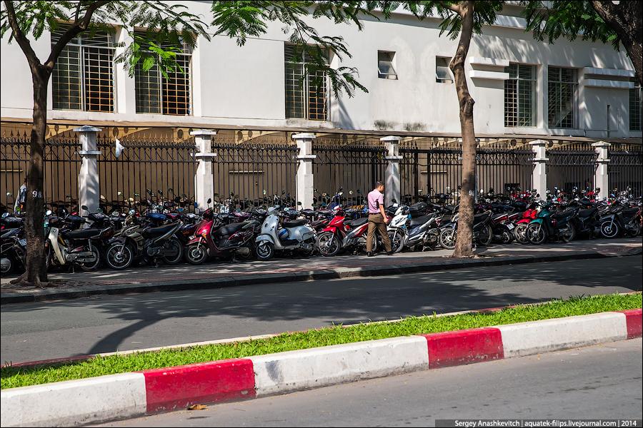 Мотопарковки в Сайгоне