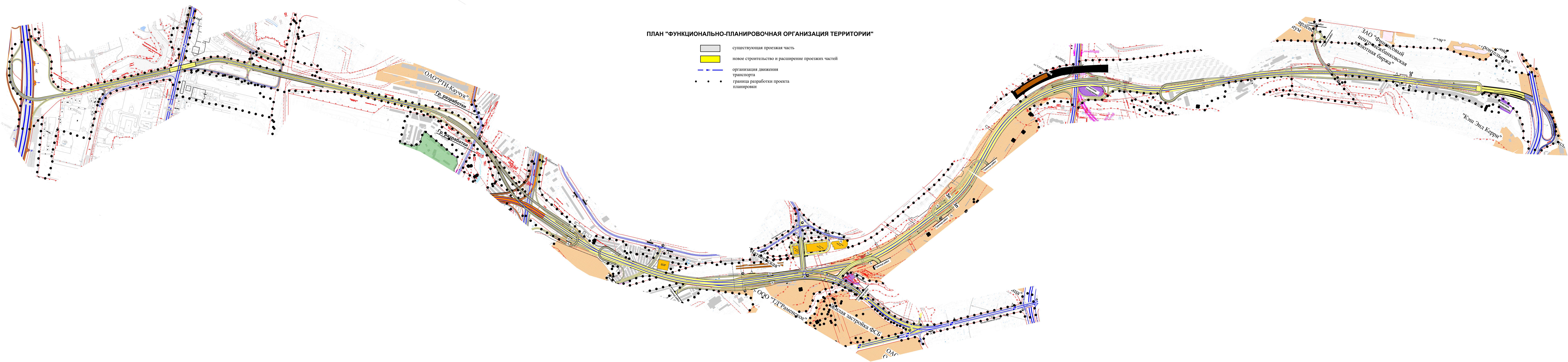 Схема прохождения северного дублера кутузовского проспекта