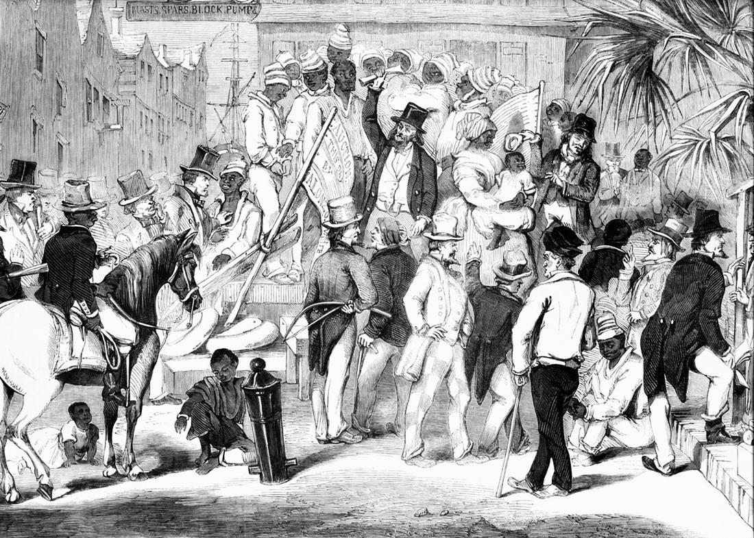 Аукцион по продаже рабов в Чарльстоне, штат Южная Каролина (1853 год)