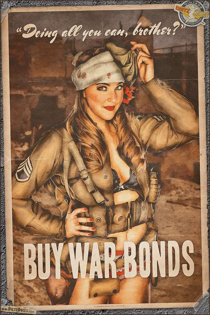 Армейский pin-up в стиле 1940-х годов от американского художника Britt Dietz (13)