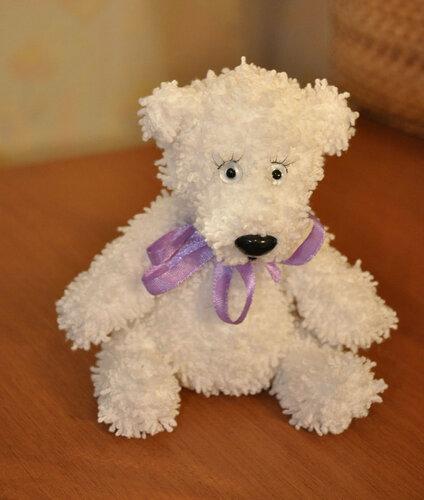 вязаный белый медведь - Самое