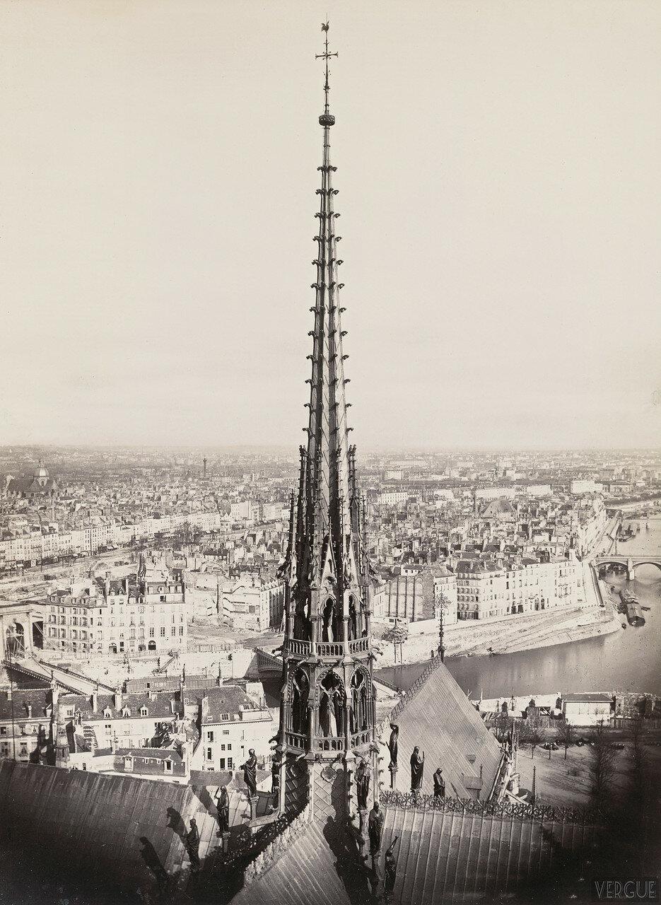 Шпиль Нотр-Дам де Пари. 1862
