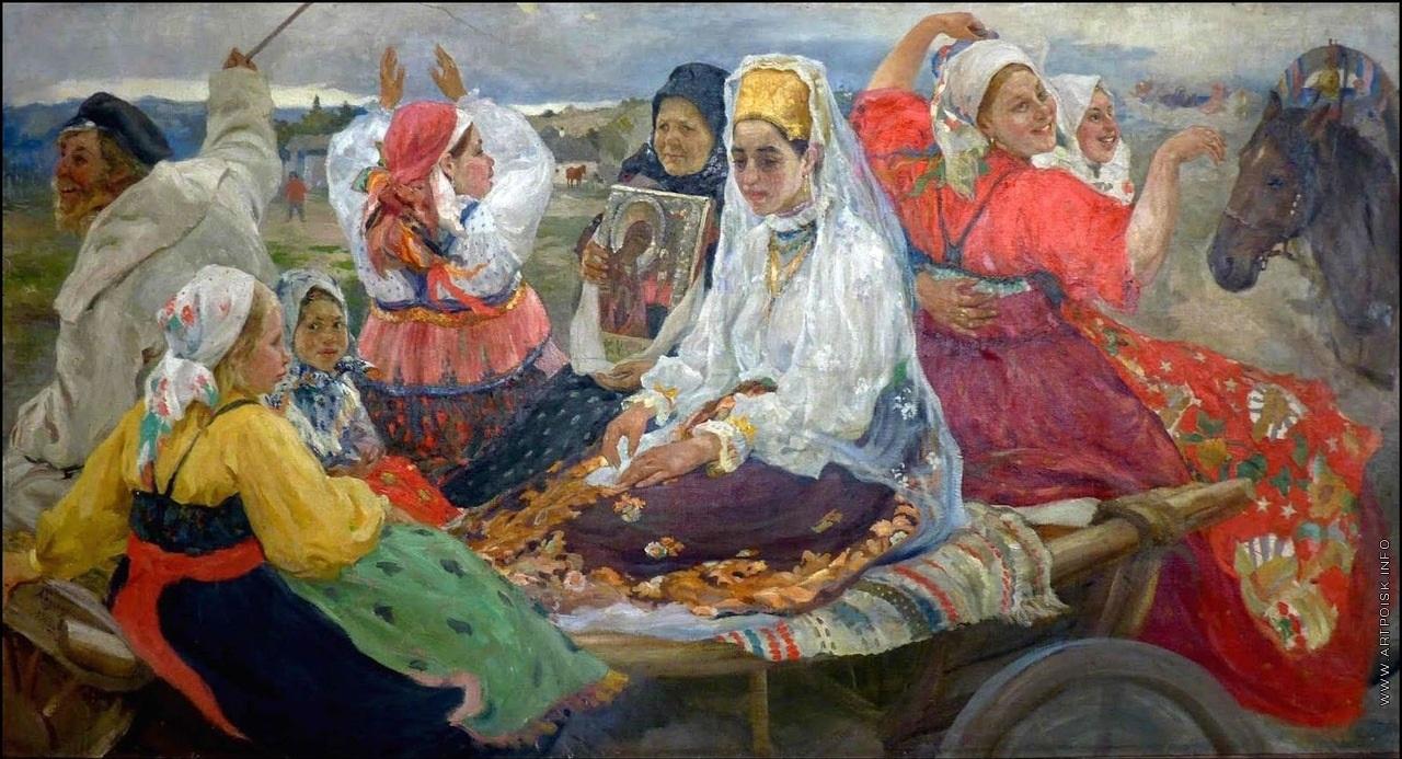 Свадебный поезд, 1913, Бучкури Александр Алексеевич