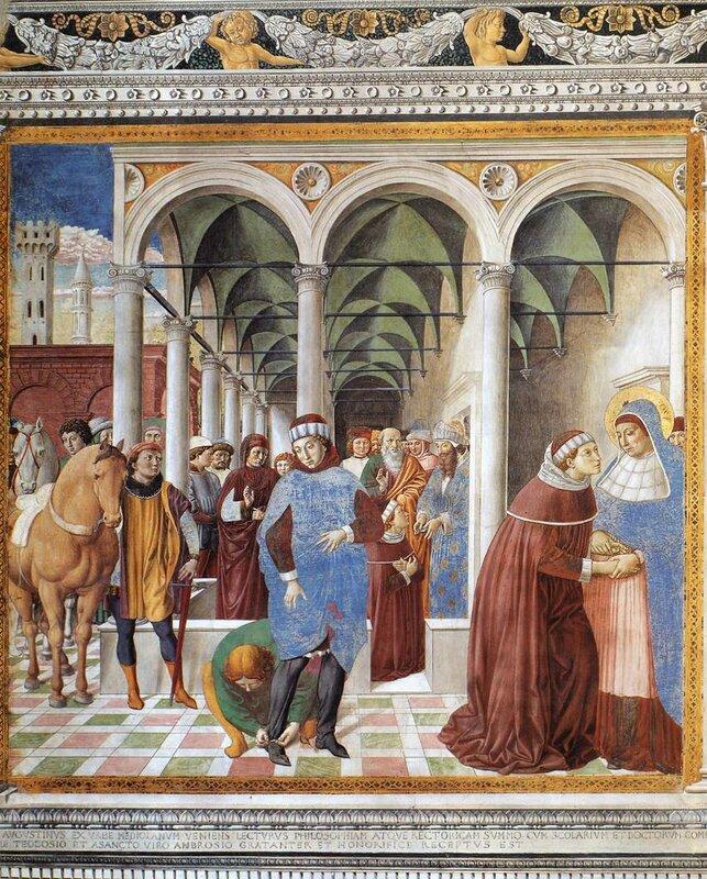 008-Бл.Августин прибывает в Милан.jpg