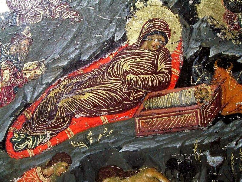 Рождество Христово. Икона. Кипр. Фрагмент.