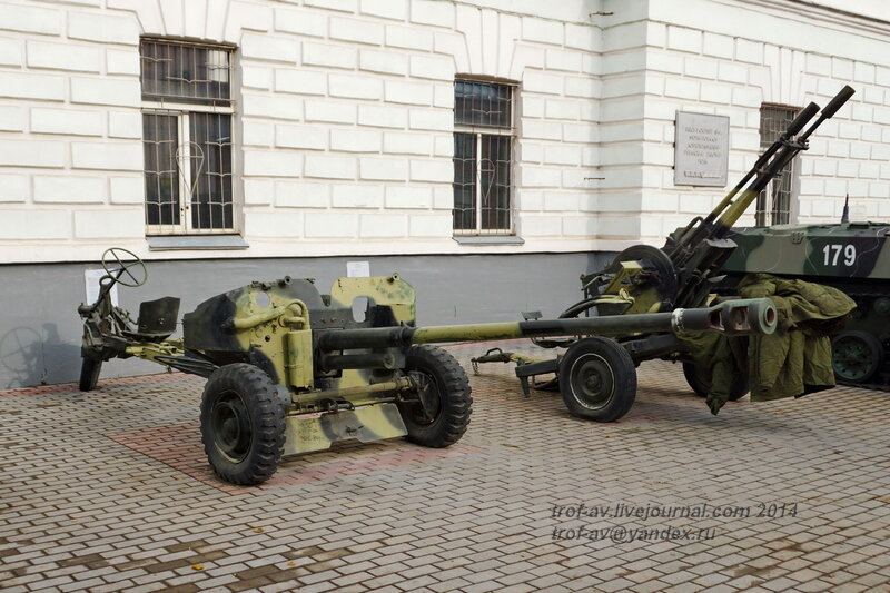 Самодвижущаяся пушка СД-57, Выставка военной техники у музея истории ВДВ, Рязань