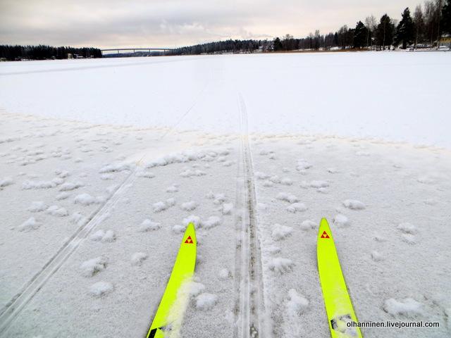 тоже по льду озера покаталась на лыжах.JPG