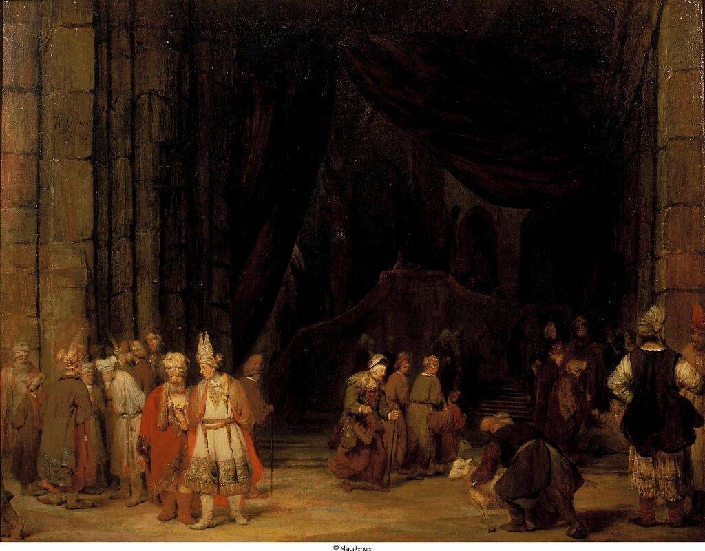 Gelder, Arent de - Внешний двор храма, 1679, 70,7 cm x 91 cm, Холст, масло.jpg