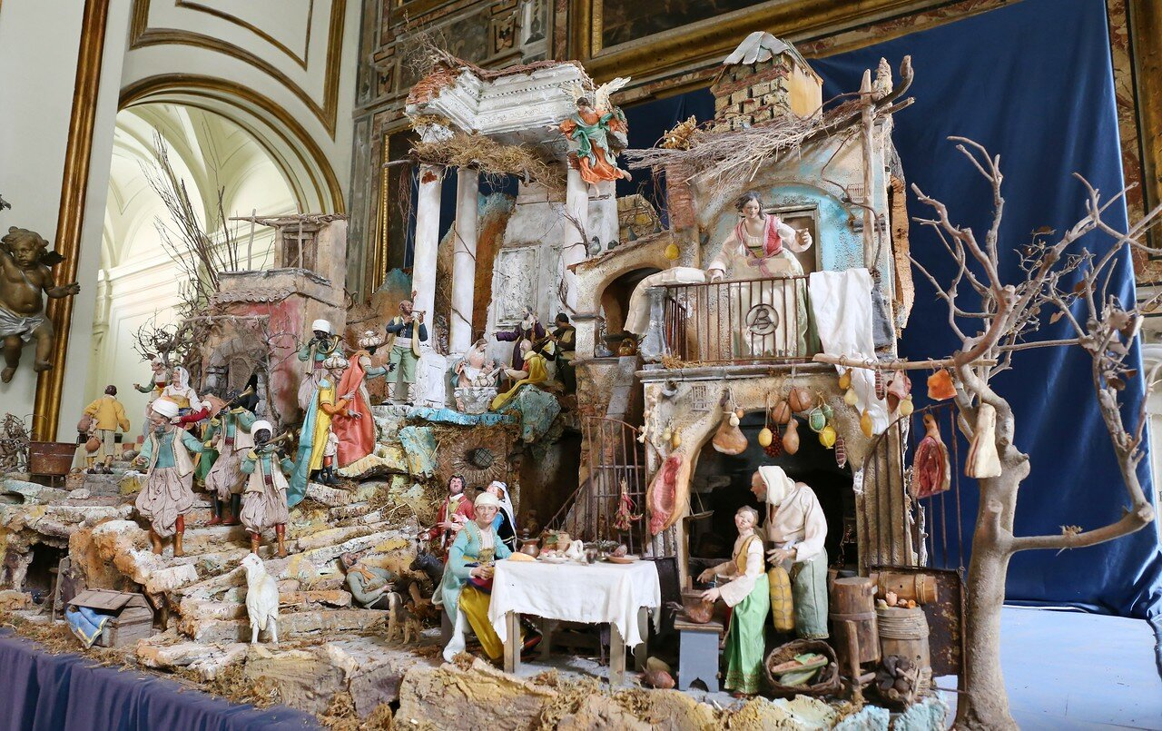 Naples. Church Of Santa Maria La Nova. Christmas Nativity scenes