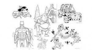 Книга Раскраски с героями из мультфильмов, загадки, песенки и другие полезности для малышей