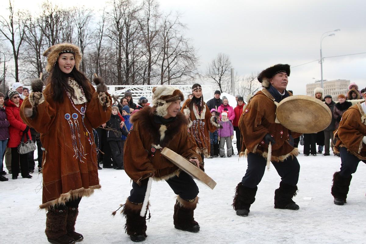 Оленеводы в Парке Горького