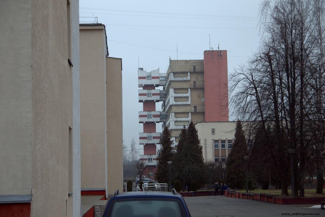 Вид на Бастилию в Новополоцке.