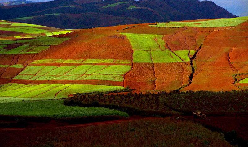 Чэнду-Красная земля в Дончуань