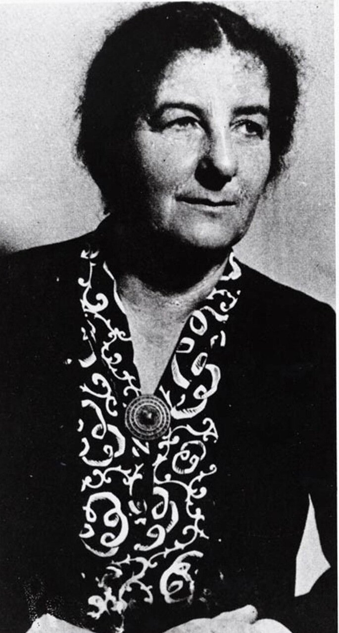 1947.  Голда Меир в качестве председателя политотдела Еврейского агентства