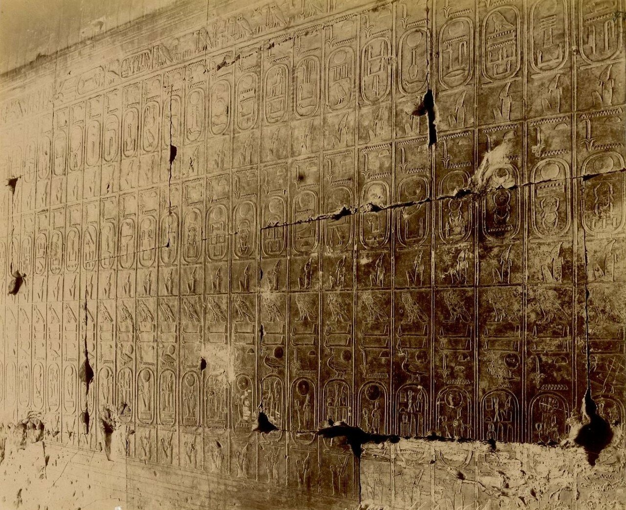 Абидос. Таблицы храма Сети I