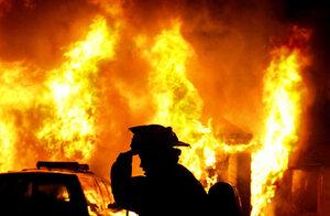 Страшный пожар произошел в жилом здании в Южной Корее