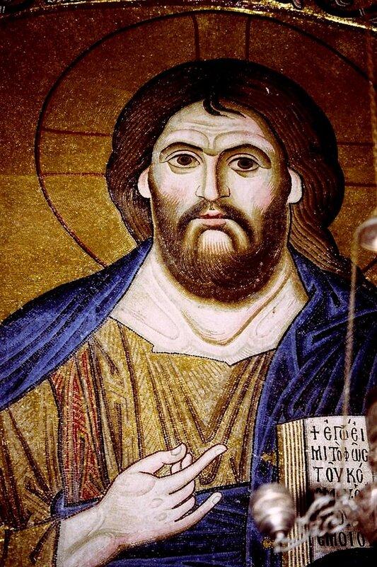 Христос Пантократор. Мозаика монастыря Осиос Лукас (Преподобного Луки), Греция. 1030 - 1040-е годы.