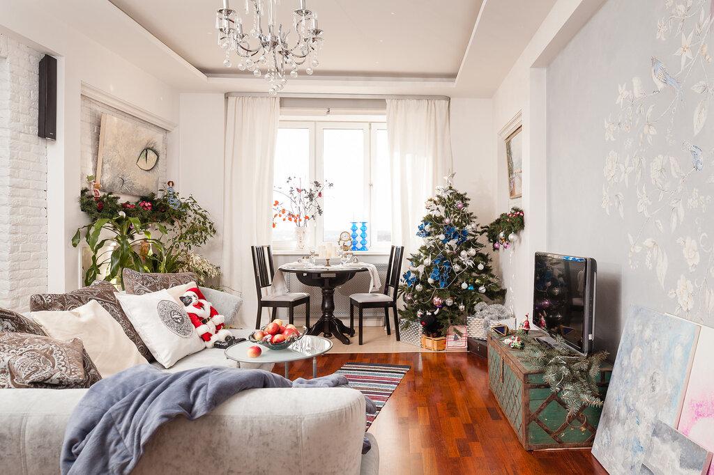 декорируем гостиную к рождеству и новому году