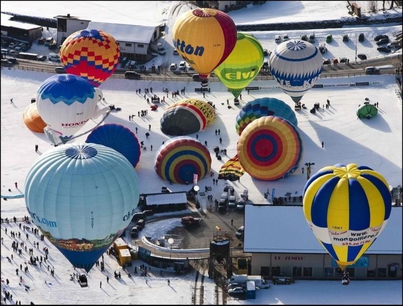 Фестиваль воздухоплавания в Шато д'О