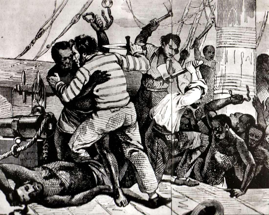 Бунт африканских невольников на борту судна для их перевозки через Атлантику