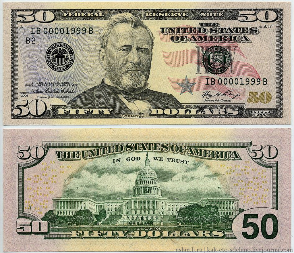 доллары 2009 года выпуска фото