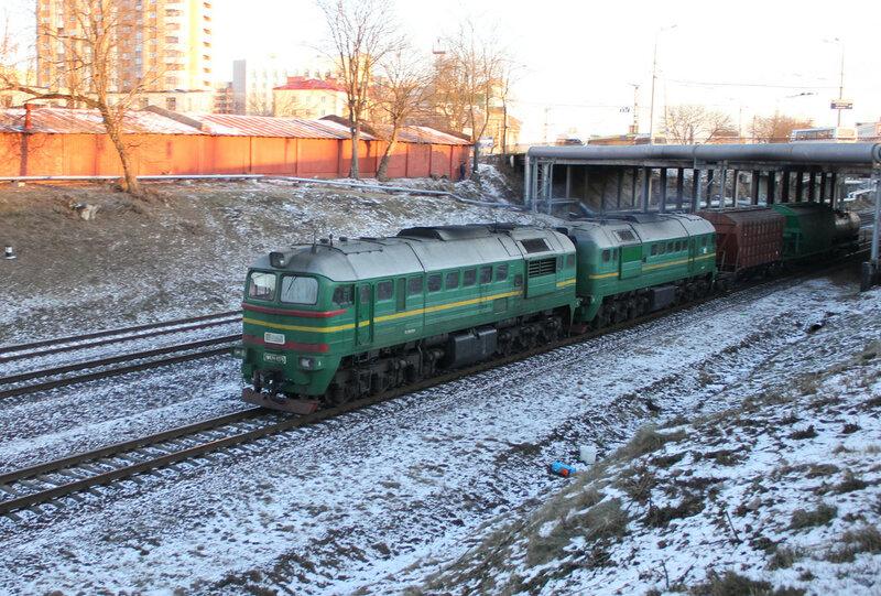 2М62У-0279 УЗшная на перегоне Новобелицкая - Гомель