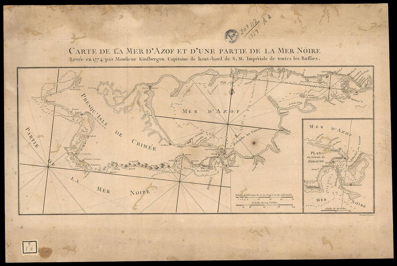 1785. Карта Черного и Азовского морей