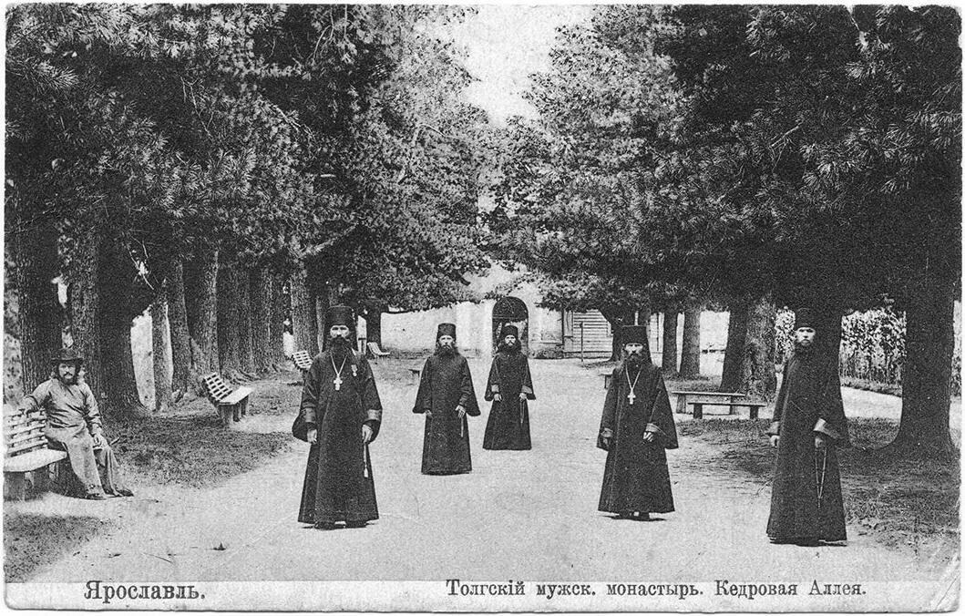 Толгский мужской монастырь, Кедровая аллея