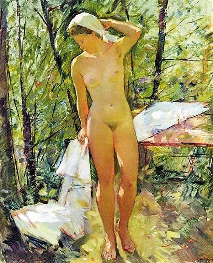 Обнажённая, освещённая сзади, (1946) Антон Лутц (1894-1992)