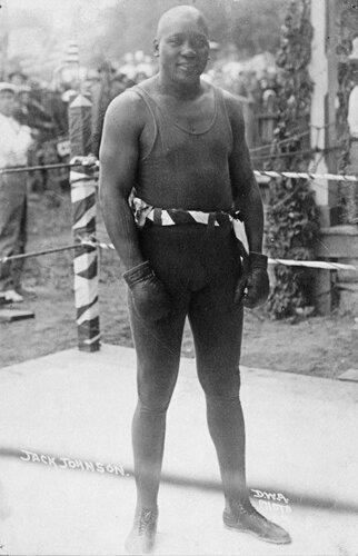 Джек Джонсон (США) — чемпион мира в тяжёлом весе (1908-1915) (Г)