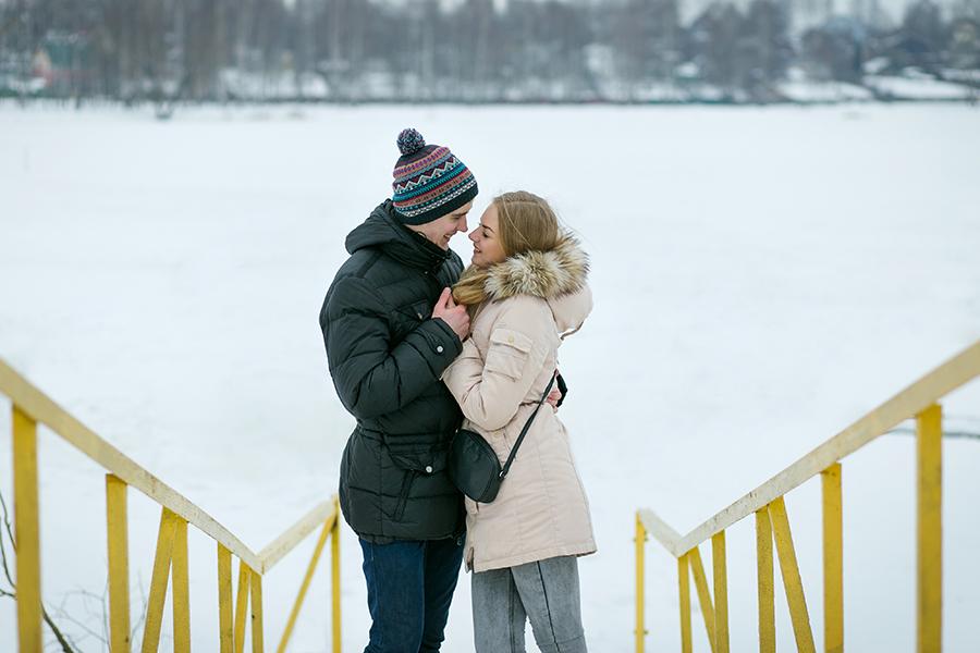 Лавстори фотосессия в парке город Иваново