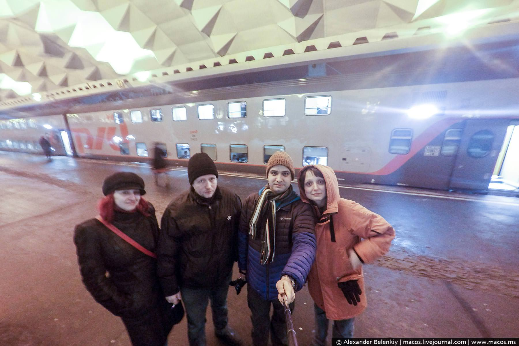 Двухэтажный поезд на собственной шкуре