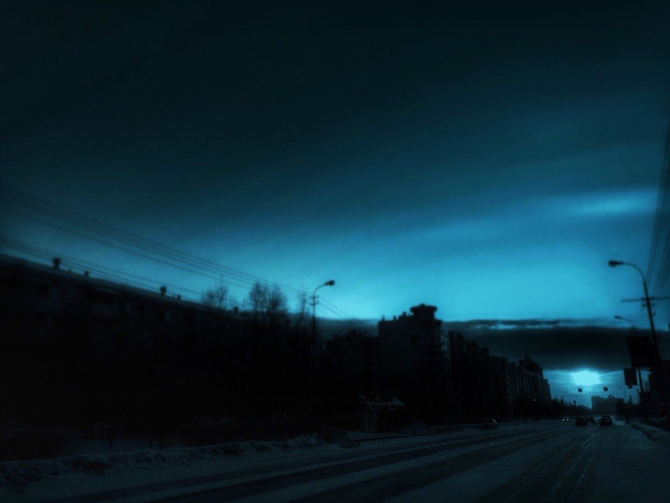 дорога ночь