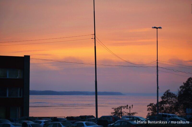 Яркий закат, Саратов, 03 декабря 2014 года