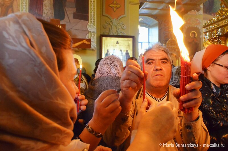 Пасхальное воскресенье, храм Покрова Пресвятой Богородицы, 12 апреля 2015 года