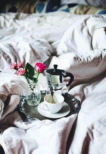 Фото цветы кофе в постель