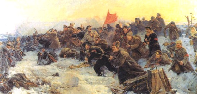 В.К. Дмитриевский, И.В. Евстигнеев, Г.И. Прокопинский. Рождение Красной Армии, 1954.