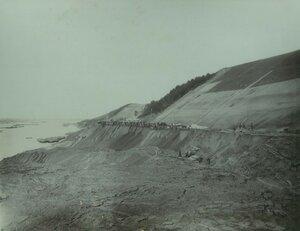 Вид кавальера из разобранных обвалов на 280 - 281-й версте