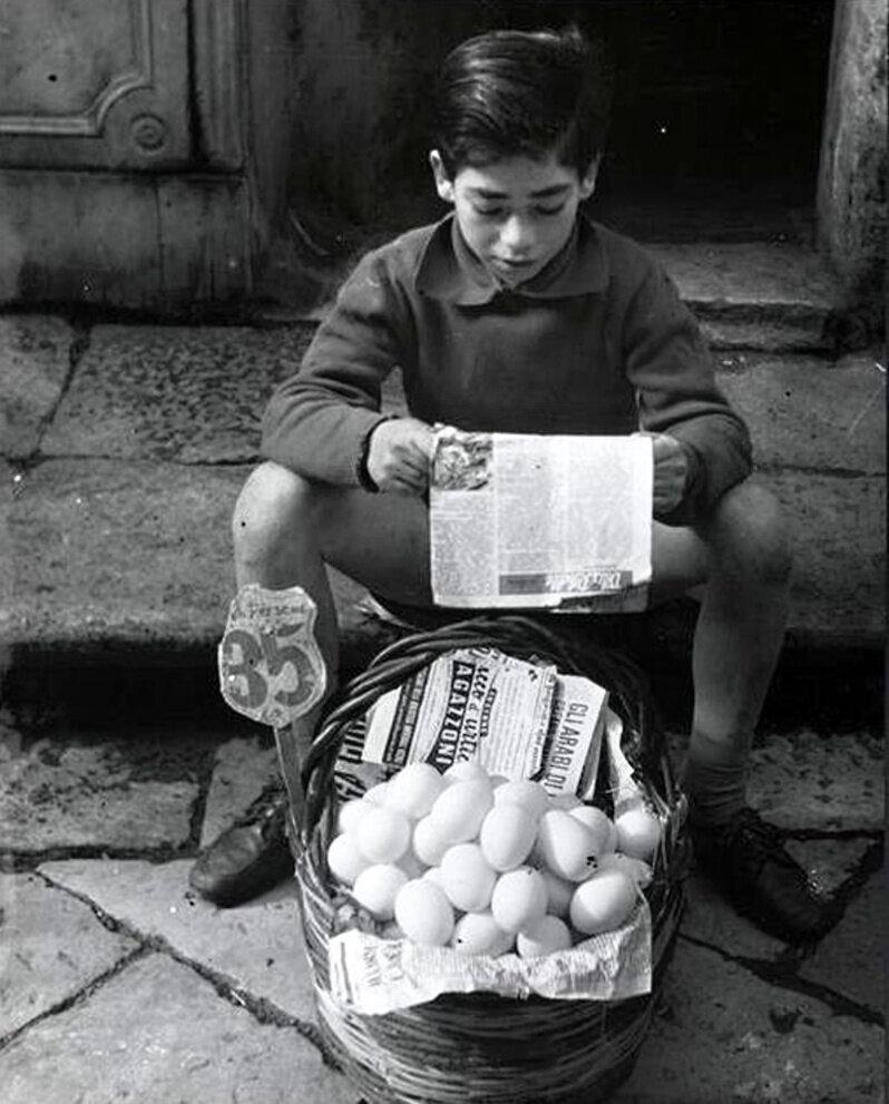 1957. Продавец яиц