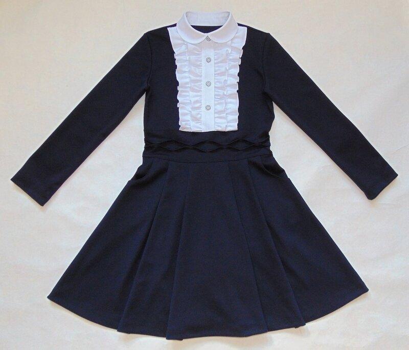 Как сшить школьное платье на девочку 437